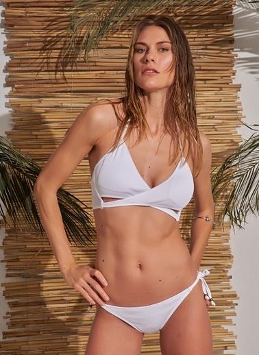 Morhipo Beach Bağlama Detaylı Bikini Beyaz